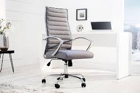 chaise de bureau tissu fauteuil de bureau massari tissu gris