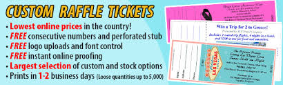 raffle tickets raffle ticket printing