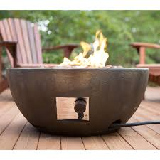 Propane Fireplace Outdoor Red Ember Mesa 28 In Gas Fire Pit Bowl With Free Cover Hayneedle