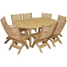 amish handcrafted 9 piece pine patio oval picnic set 1 356