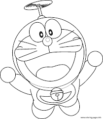 flying doraemon cartoon s4b37 coloring pages printable