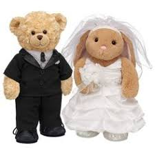 Build A Wedding Ring by Bride And Groom Teddy Bears Bride Pawfectly Huggable Bunny