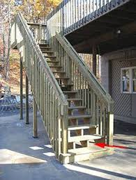 how to build tall outdoor stairs for a high 2nd story deck or