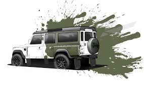 custom land rover defender kahn teases land rover defender tuning concept autoevolution