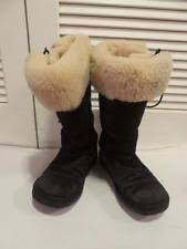 s ugg australia lodge boots ugg australia lodge nightfall suede leather fur boots womens size