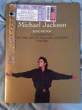 sle funeral program michael jackson memorial program ebay
