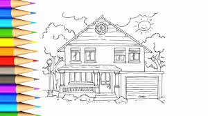 how to draw house house coloring pages for kids videos for