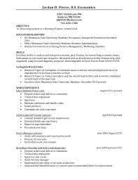 Economics Resume Jordan Pierce Resume