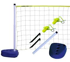 volleyball net with poles