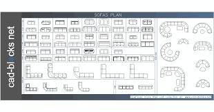 plan view furniture cad blocks sofas in plan view