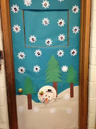 Wall Decoration For Preschool by Kids Photographs On Each Snowfalke For An Outside Wall
