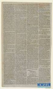 front page printing of president george washington s proclamation