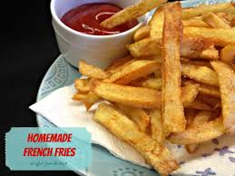 homemade double fried french fries an affair from the heart