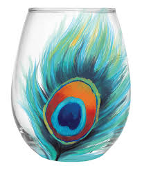 look what i found on zulily peacock feather stemless wineglass peacock feather stemless wineglass by cypress home