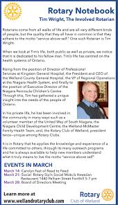 Hospital Executive Director Rotary Notebook Tim Wright The Involved Rotarian Mywelland