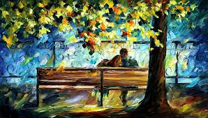oil paintings painting in love palette knife landscape oil painting on canvas by leonid