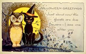 halloween greeting cards the gothic embrace vintage halloween graphics