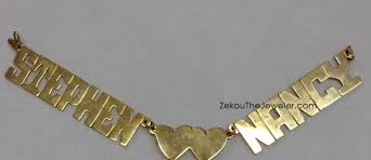 real gold nameplate necklace 10k gold name plates name jewelry