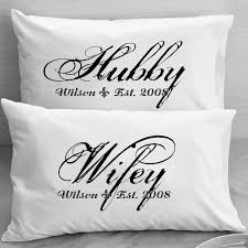 couples pillow cases custom personalized wifey hubby wife