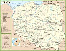 Map Of Poland And Germany by Poland Maps Maps Of Poland