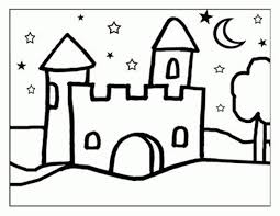 castle for kids coloring page free download