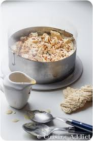 cuisine adict vanilla nougat caramel iced vacherin with meringue