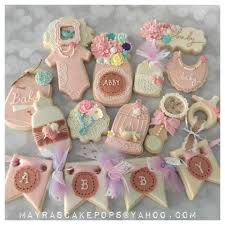 shabby chic baby shower shabby chic baby shower cookie connection