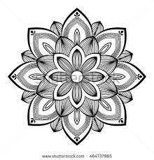 flower mandala vintage decorative elements oriental stock vector