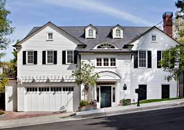 French Dormer Windows Above Garage Door Storage Exterior Traditional With Colonial