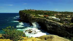 beach town sea australia park serf cliff gap sydney coast beach