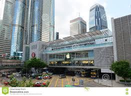 ifc mall and ifc1 building hong kong island editorial image