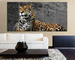 large wall canvas art print leopard wild animal life for home