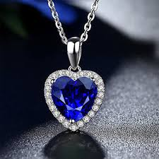 diamond style necklace images Stunning titanic the heart of the ocean blue diamond style jpg