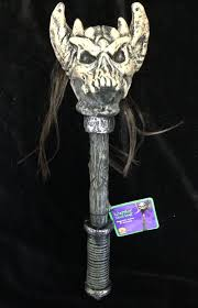 medieval prop weapon warrior demon skull club costume accessory