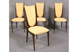 Set Of Four Dining Chairs Mid Century Modern Set Four Dining Chairs High Back For Sale