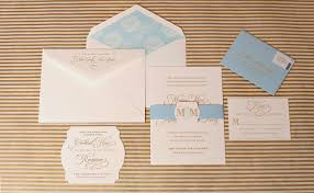 monogrammed wedding invitations nico u0026 lala