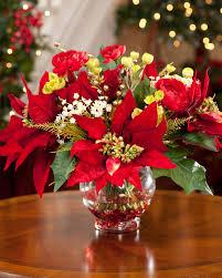 poinsettia u0026 ranunculus silk centerpiece for holiday and christmas