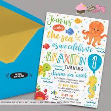 sea invitation ocean birthday party printable