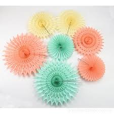 tissue paper decorations furuix paper honeycomb tissue paper fan mint green paper