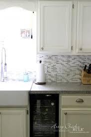 diy tile backsplash kitchen coastal inspired diy tile backsplash tutorial anyone can do