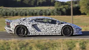 lamborghini aventador 2018 2018 lamborghini aventador facelift spied with superveloce bits