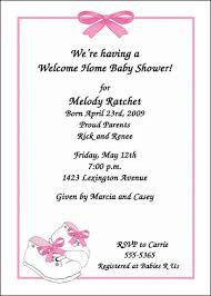 welcome home baby shower welcome baby party invitation wording baby invitation