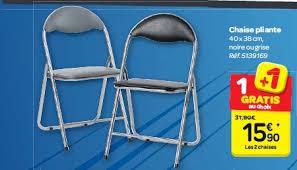 chaise pliante carrefour carrefour promotion chaise pliante produit maison carrefour de crème