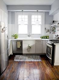 astounding brown floor installation with white ikea small kitchen
