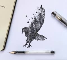 poetic surreal black ink pen illustrations pen illustration