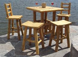 Square Bistro Table Cool Square Bistro Table And Chairs 36 Square Bistro Log Table Set