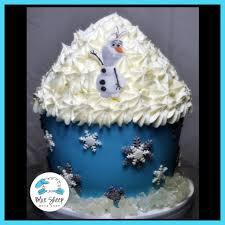 olaf frozen birthday cake blue sheep bake shop
