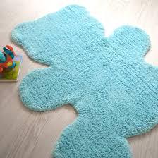 tapis enfant nattiot ourson teddy bleu 80x100 cm