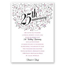Ruby Anniversary Invitation Cards Personalized Anniversary Invitations Personalized 25th Wedding