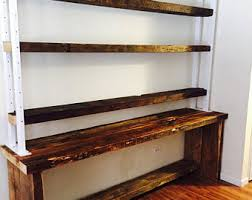 Staggered Bookshelves by Industrial Bookcase Etsy